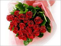 誕生日プレゼント 赤いバラの花束