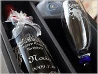 誕生日プレゼント メッセージ入りワインボトル